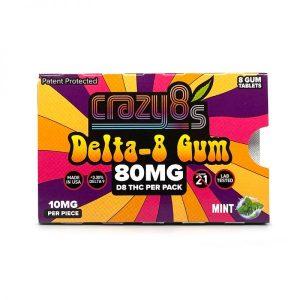 Crazy8s Delta 8 Chewing Gum